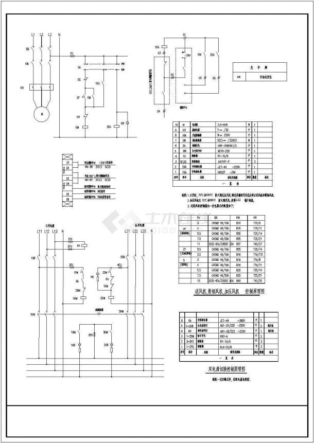 常用风机电气控制原理图-图二