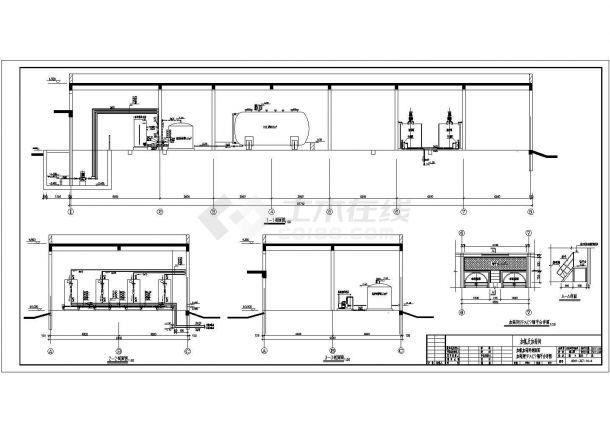 [河南]某市污水处理厂设计施工图纸-图一