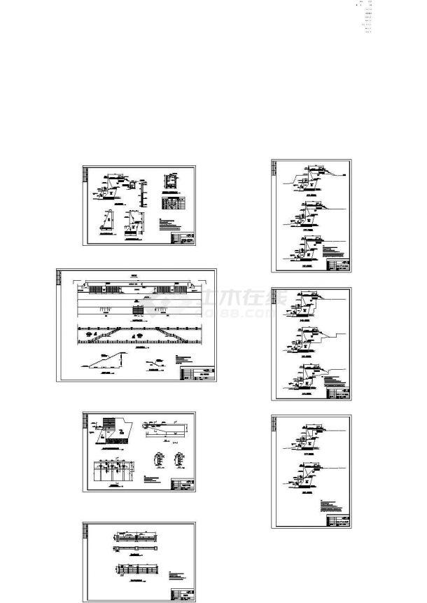 [重庆]大坝堤防加固工程CAD施工图-图二