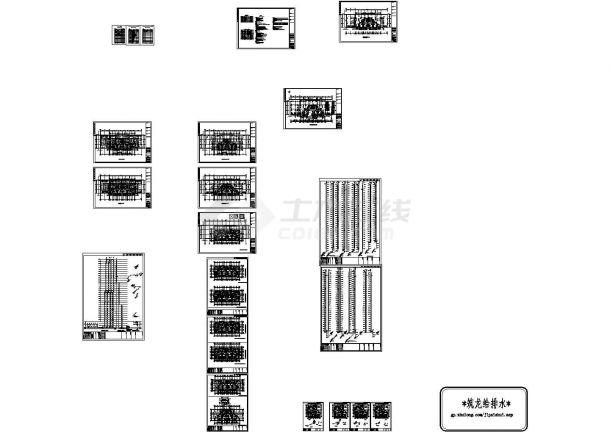 [辽宁]高层住宅小区给排水全套施工图纸 (含地下室、5栋楼)-图二