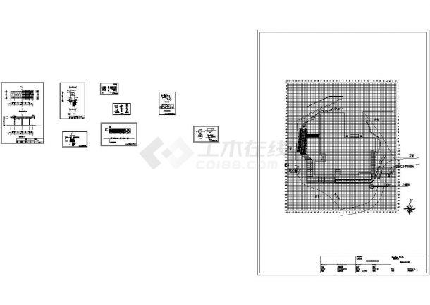 别墅庭院景观设计方案及细部大样图-图二