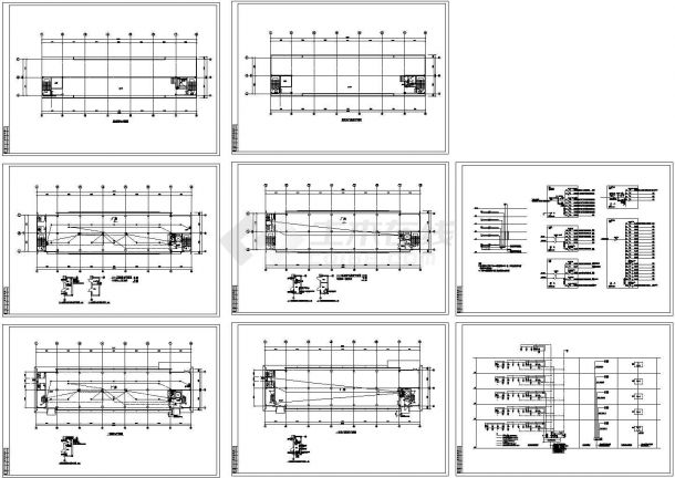 工业厂房电气设计CAD施工图-图二