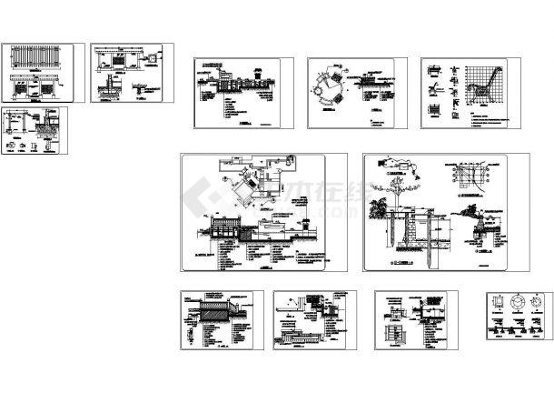 某别墅庭院景观设计CAD施工图纸-图一