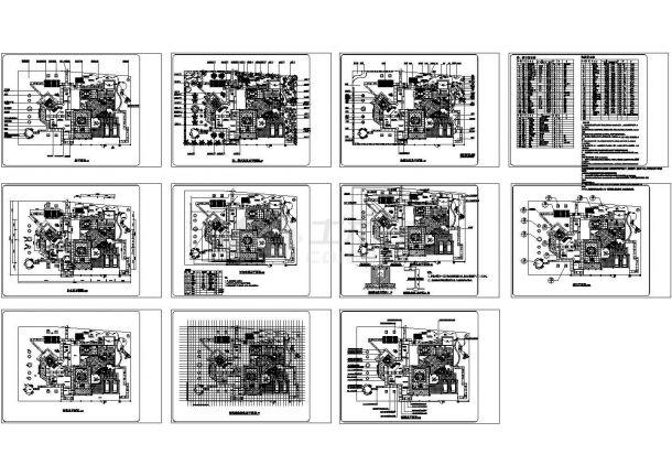 某别墅庭院景观设计CAD施工图纸-图二