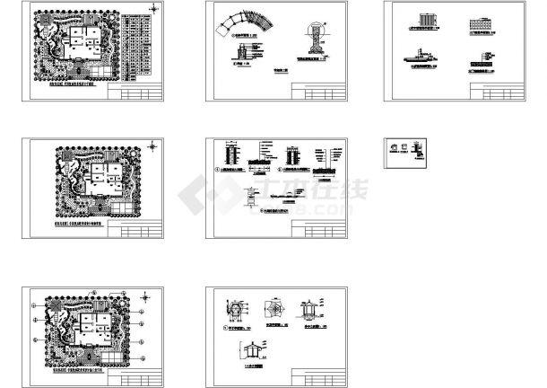 简阳某花园1号别墅庭院景观设计CAD施工图-图二