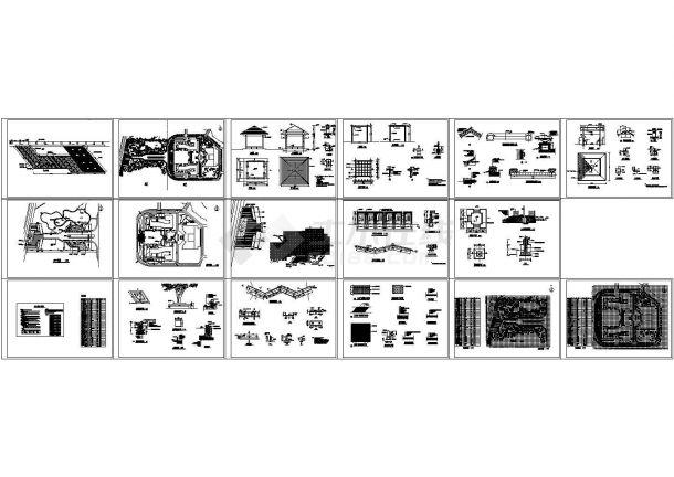 江西学院景观绿化工程全套图纸-图一