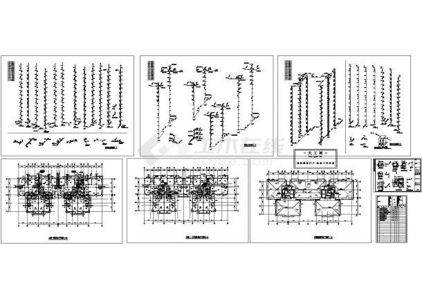 某14层高层住宅建筑给排水图纸-图二