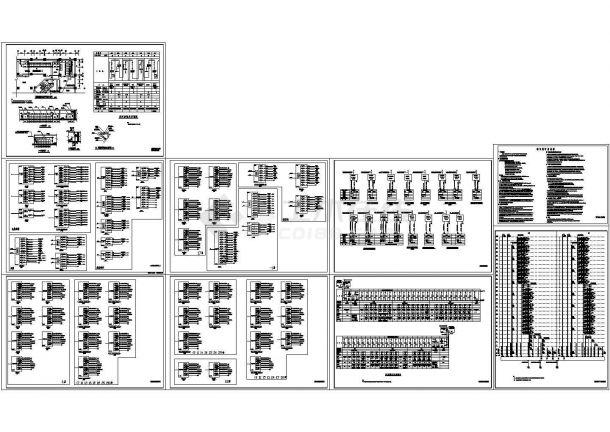 三十层商住楼高低压配电系统图CAD图纸-图二