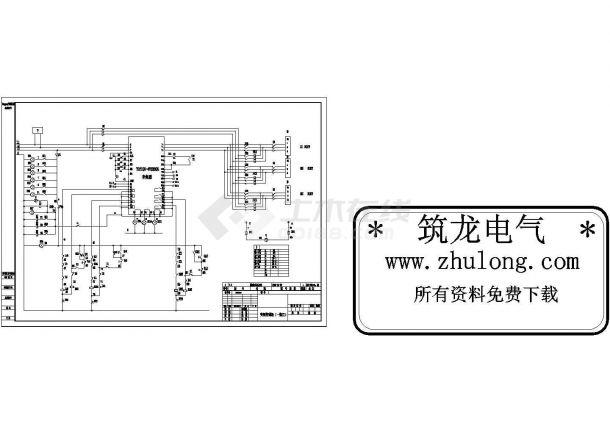 变频器控制原理图纸-图一