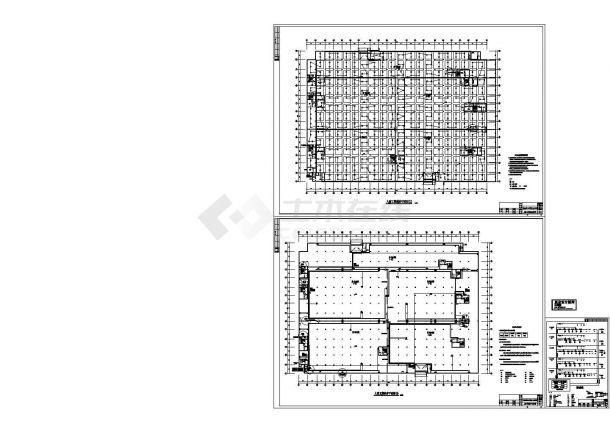 地下车库火灾报警设计cad图(含平面图)-图一