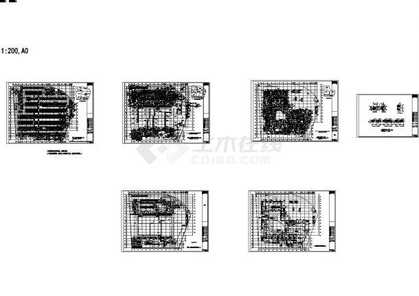 [南京]某地大型购物中心暖通空调全套设计施工cad图(含设计说明)-图一