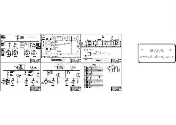 某电站电气一次设计控制原理图纸-图一