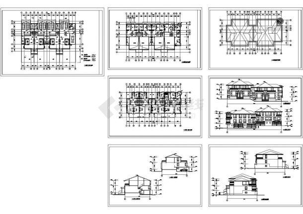 某双联13.383 米三层别墅建筑设计方案图-图一