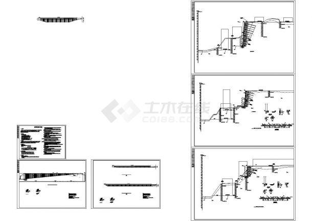 [重庆]锚杆挡墙边坡支护施工图-图一