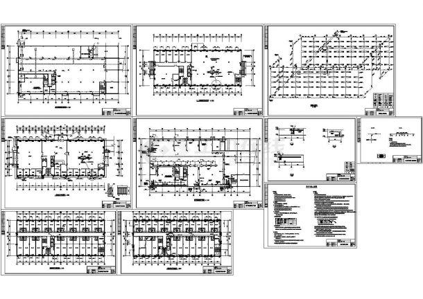 五层综合大楼散热器采暖系统设计cad图,共十张-图一