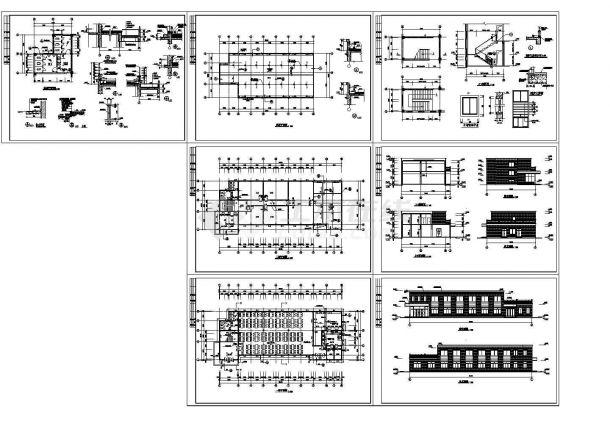 某公司食堂建筑设计详细施工图-图一