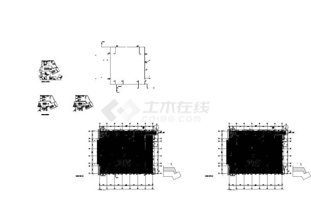 上海某单层医学院给排水设计施工图-图一
