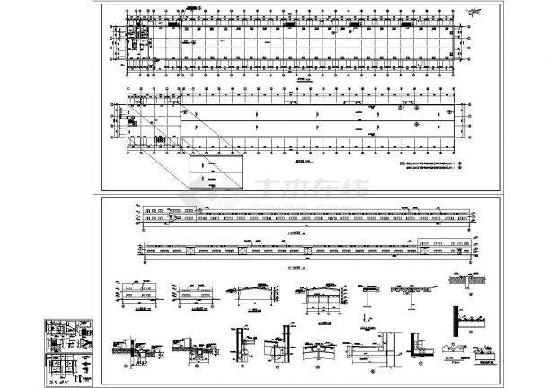 单层饼干生产厂房建筑设计施工图-图一