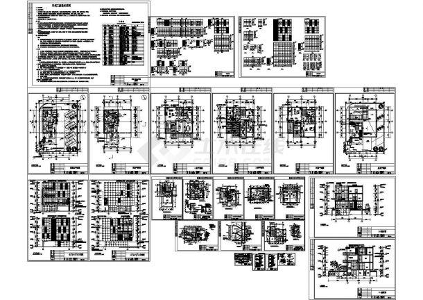 四层住宅式私人会所全套建筑施工cad图(带效果图,共二十六张)-图一
