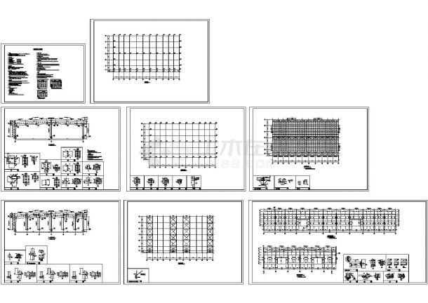51m跨两跨两坡门式轻钢结构4743平米厂房建筑结构施工图(PDF计算书)-图一