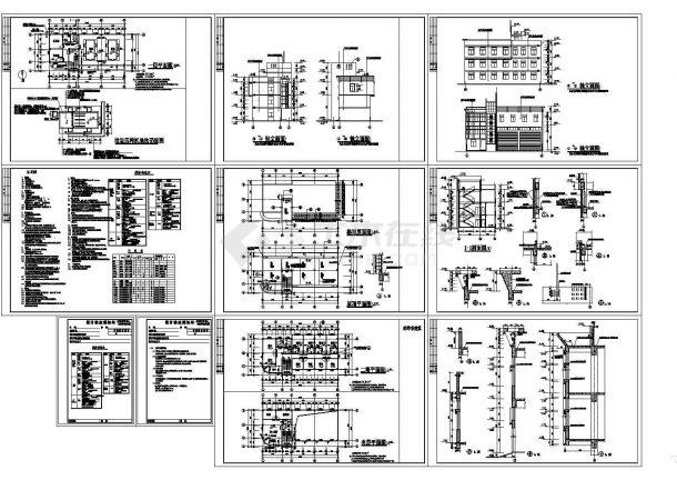 某二层框架结构垃圾转运站(473㎡)设计cad全套建筑施工图(含设计说明)-图一