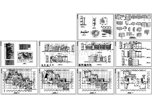 3层3035㎡框架结构幼儿园建筑施工图(节点门窗大样 建筑设计说明)-图一