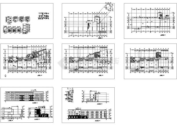 3层幼儿园建筑施工图(8张)-图一