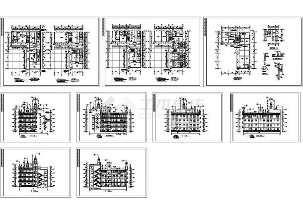 4层1829.95平方米L型幼儿园建筑施工图(共9张)-图一