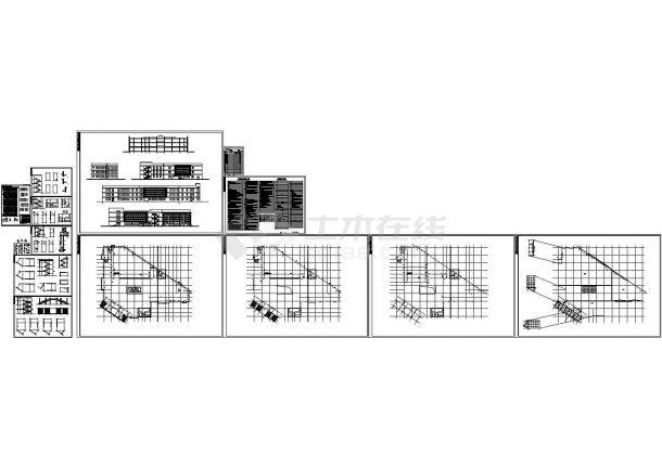 [永嘉县]某高级中学三层食堂建筑施工图-图一
