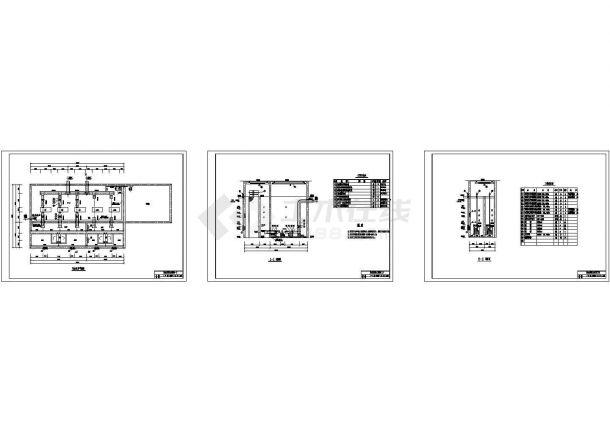 某取水泵站给排水设计cad施工图-图一