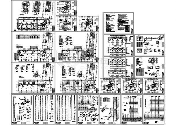 超高层V型商住楼给排水设计施工图-图一