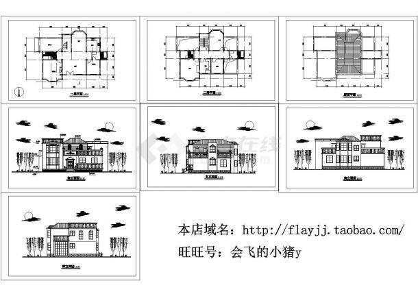 2层:长17.7米 宽10.8米 农村住宅建筑设计图【平立】.(某甲级院设计)-图一