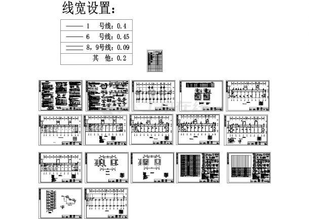 某框架教学楼结构cad设计图-图一