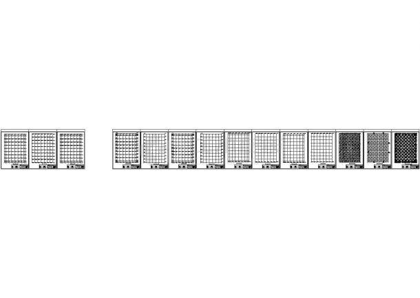 逸夫图书馆网架采光工程结构设计施工图(含计算简图)-图一