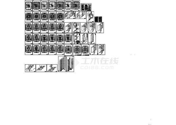 超高层层城市花园商住楼给排水设计施工图-图一