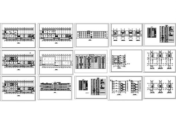 小学教学楼建施图Cad设计图-图一