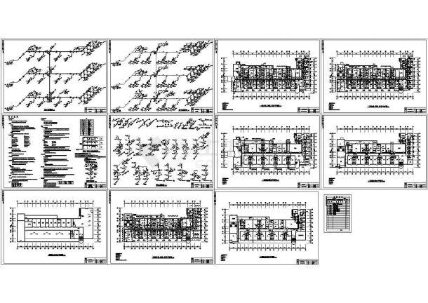 四层传染病房加层改造给排水设计施工图-图一