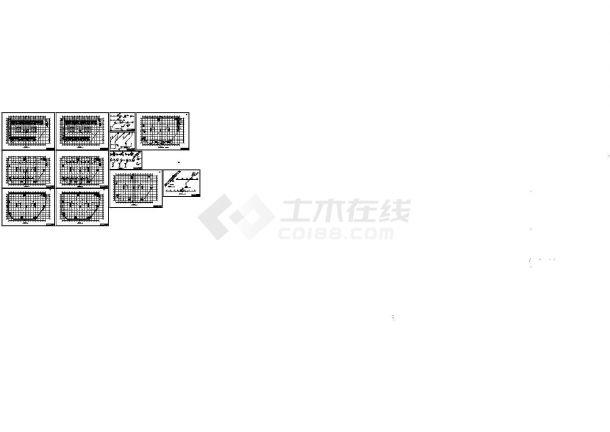 小型商业建筑散热器采暖系统设计施工CAD图(含给排水系统)-图一