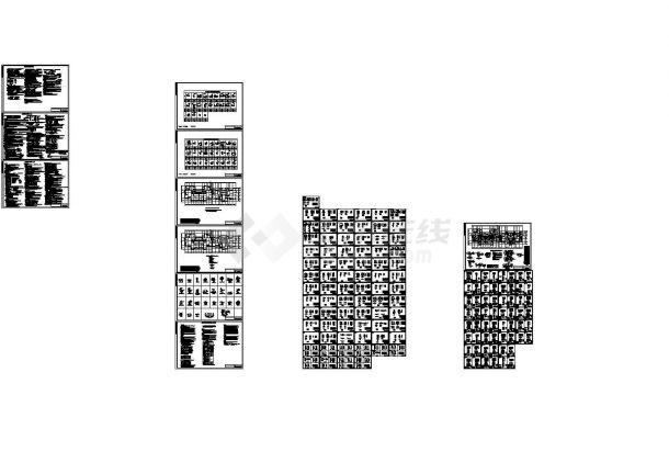 百米高层住宅装配式建筑结构CAD施工图-图一