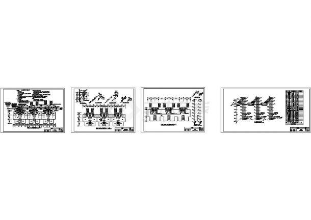 南方七层住宅冷热水及排水系统图cad设计-图一