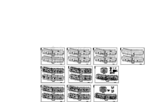 某6层框架结构住宅楼设计cad全套结构平面图【标注详细】-图二