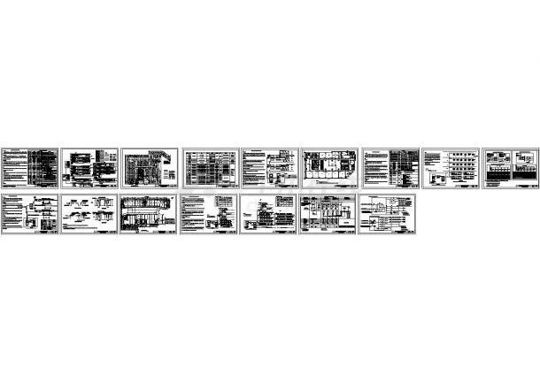 火灾自动报警及消防联动控制系统CAD设计图版系统平面图-图一