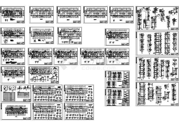 某6层异型柱框架结构住宅楼设计cad全套结构施工图【甲级院设计,28张图】-图一