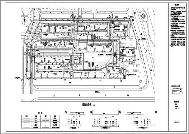 某小区二期工程管线cad设计综合图-图二