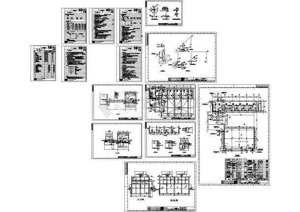 甘肃某7100立方米小时的硫酸循环水泵房cad详细施工图-图一