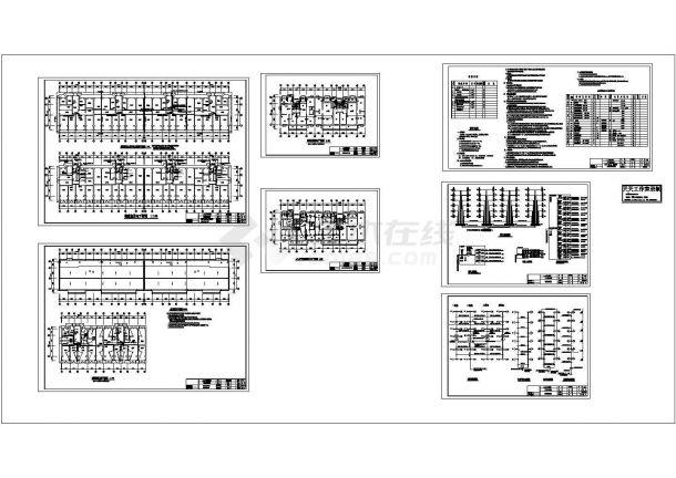 某多层住宅楼电气施工CAD图纸设计-图二