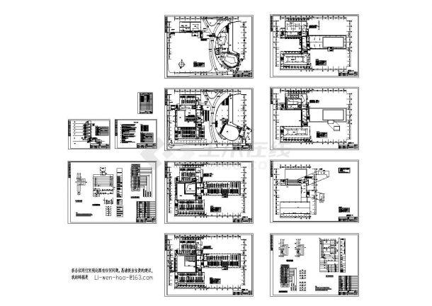 某五层大学图书馆火灾报警系统设计cad图,共十二张-图一