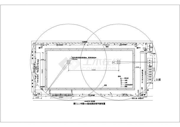 游泳馆工程施工现场平面布置图及施工进度计划.共五张-图一