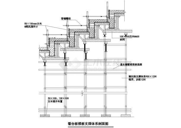 游泳馆工程施工现场平面布置图及施工进度计划.共五张-图二