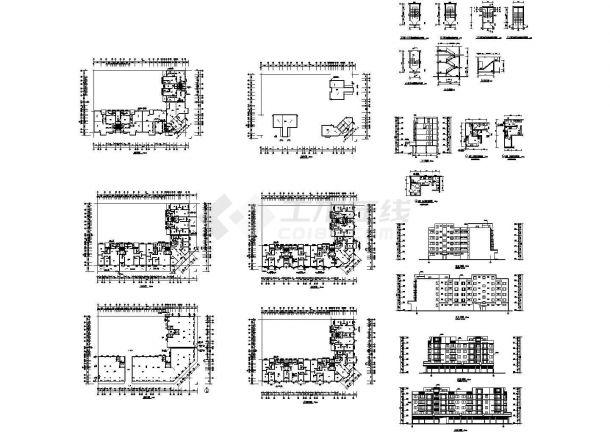 6层L型商住楼建筑设计施工图-图一